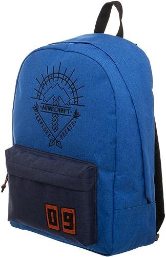 Blue Minecraft Backpack – Minecraft Explore Create Bag