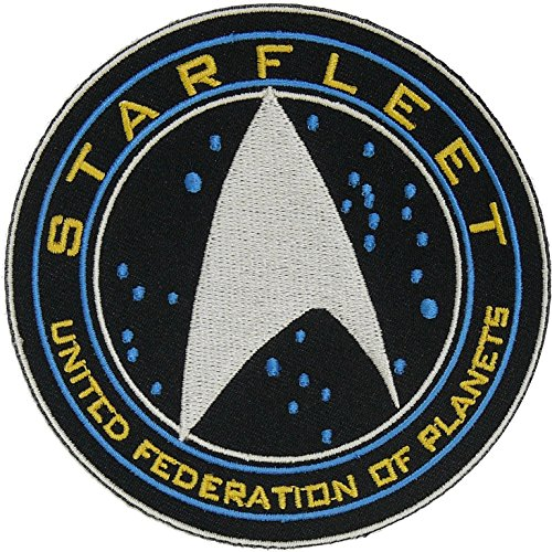 (Star Trek Beyond Starfleet United Federation of Planets Halloween Costume Embroidery Patch Easy Iron/Sew On)