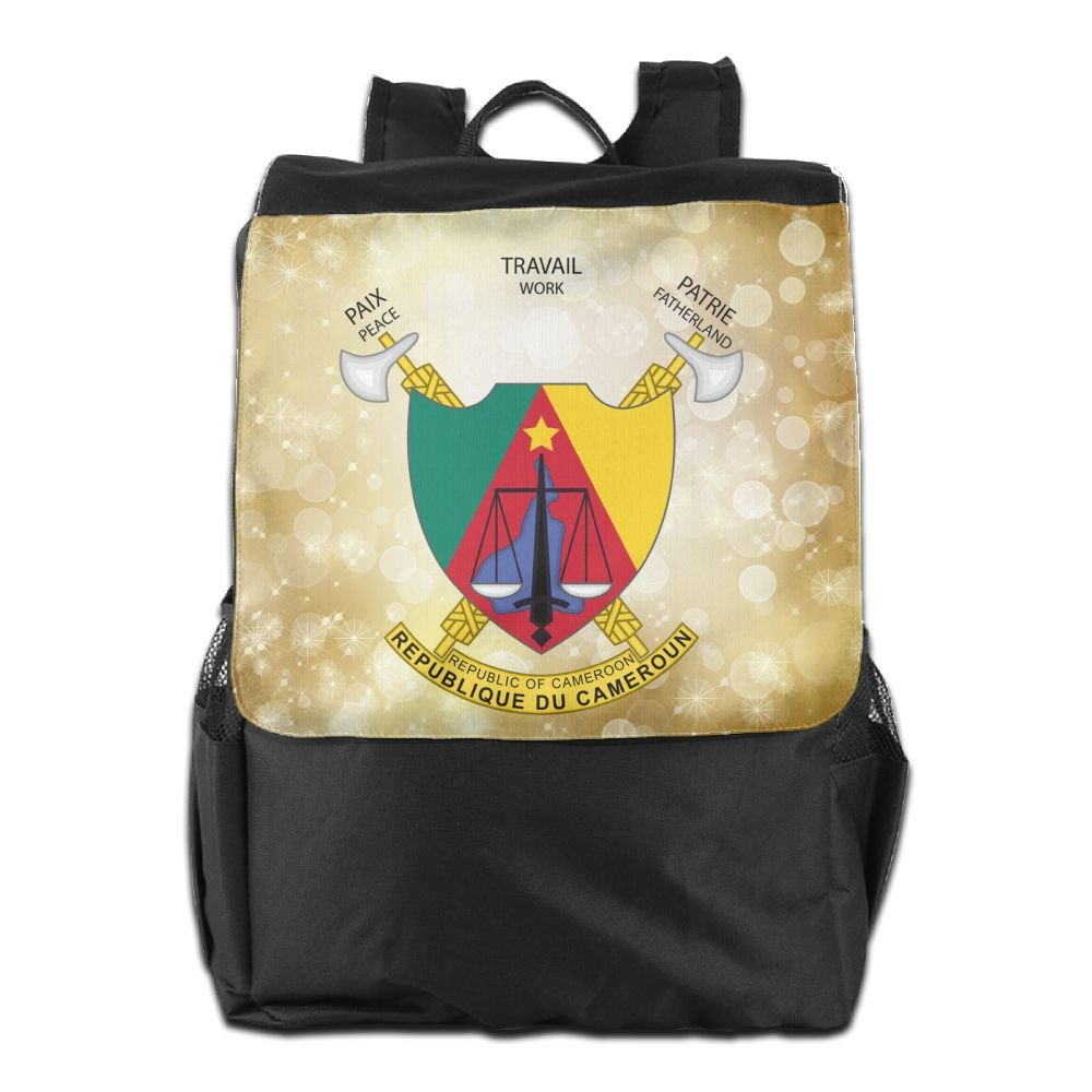 Nollm Coat Of Arms Of Cameroon Waterproof Backpack Travel Shoulder Bag For Men Women And Teens