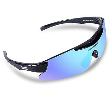 7819edb6fe RIVBOS Polarized Sports Sunglasses Driving Sun Glasses for Men Women Tr 90  Unbreakable Frame for Cycling Baseball Running Rb831 (Black Ice Lens)   Amazon.ca  ...