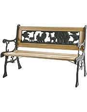 Siena Garden 598843 - Banco infantil de jardín de hierro fundido con diseño de animales (