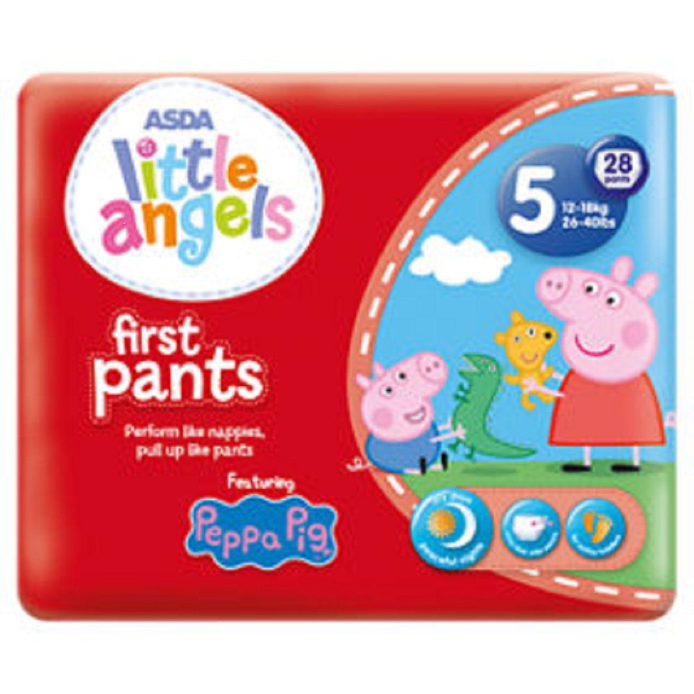 ASDA Little Angels Peppa Pig First Pants Size 5