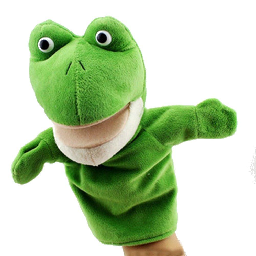 JER Marionetas de Mano, Peluche de Mano, Juquete Felpa de Mano de Dedo Diseño de Animal Lindo Peluche para bebé(Rana)