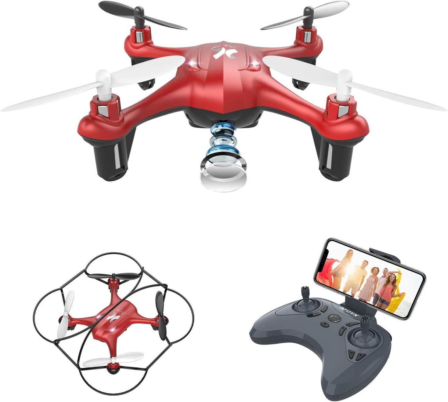 3D Flip//Flashing LED Gravity Sensor One Key Take Off//Landing Christmas Gifts Toys for Boys and Girls Mini Drone for Kids Hand Operated Remote Control Drone Small RC Quadcopter Flying Drones