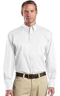 XXX-Large CornerStone Mens Short-Sleeve Stain Resistant Twill Shirt Navy