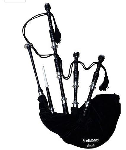 0de600bc8dcc Amazon.com  Scottmans Prpfessional Scottish Highland Bagpipe Black color  Hard Carry Case  Musical Instruments