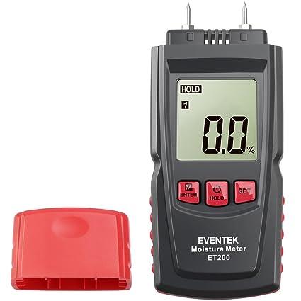 Humidímetros Digital, Eventek Medidor de Humedad de Madera ± 1% Sensor de Humedad Sensor