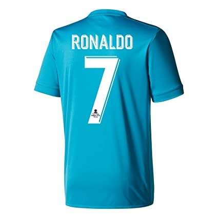 watch 60653 84ea7 Amazon.com : adidas Real Madrid 3rd Ronaldo Jersey 2017/2018 ...