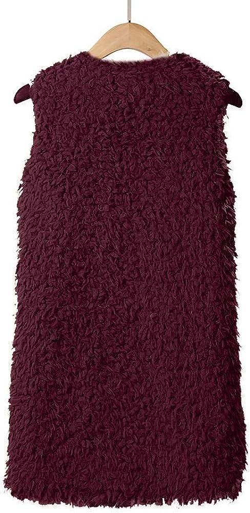 YBIRAL Fellweste Damen Weste Mantel Faux Fur Winter Warm Outwear /Ärmellos Pelzweste