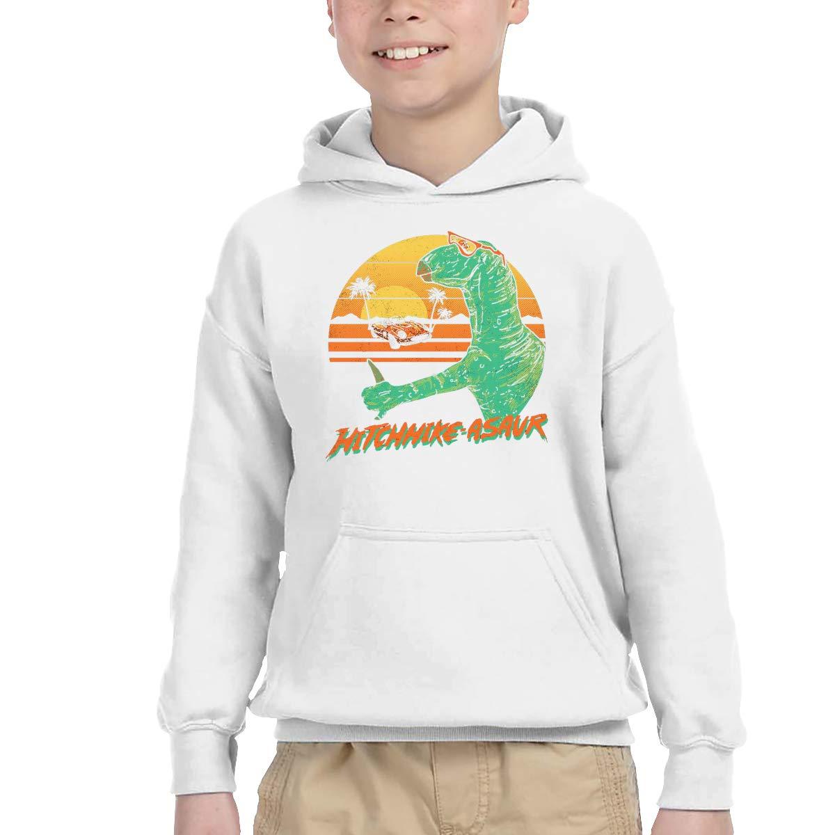Sakanpo Hitchhike-Asaur Pullover Hoodie Sweatshirt Teens Hooded for Boys Girls