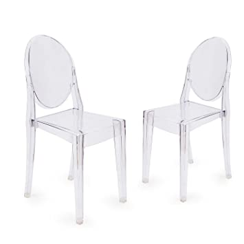design victoria ghost chair set of 2 amazon co uk kitchen home