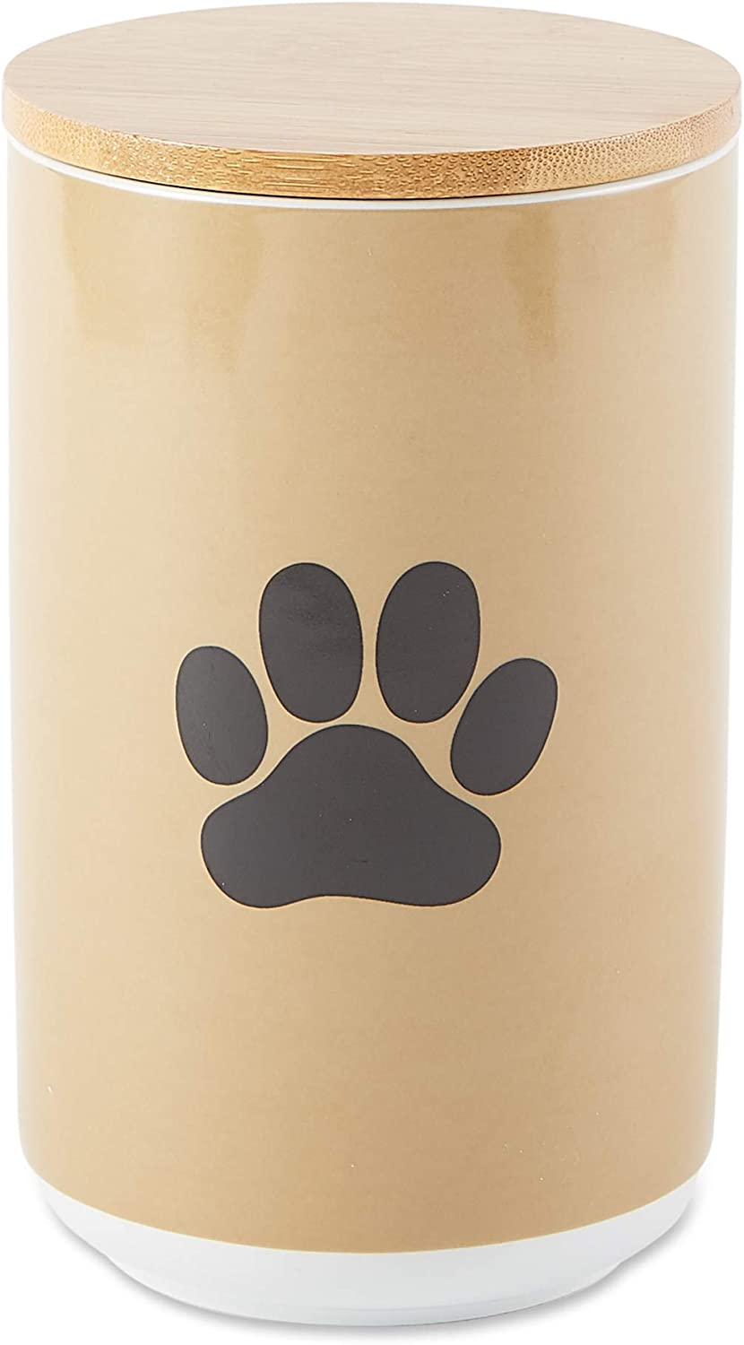 Bone Dry Ceramic Pet Collection, Canister, Taupe Paw