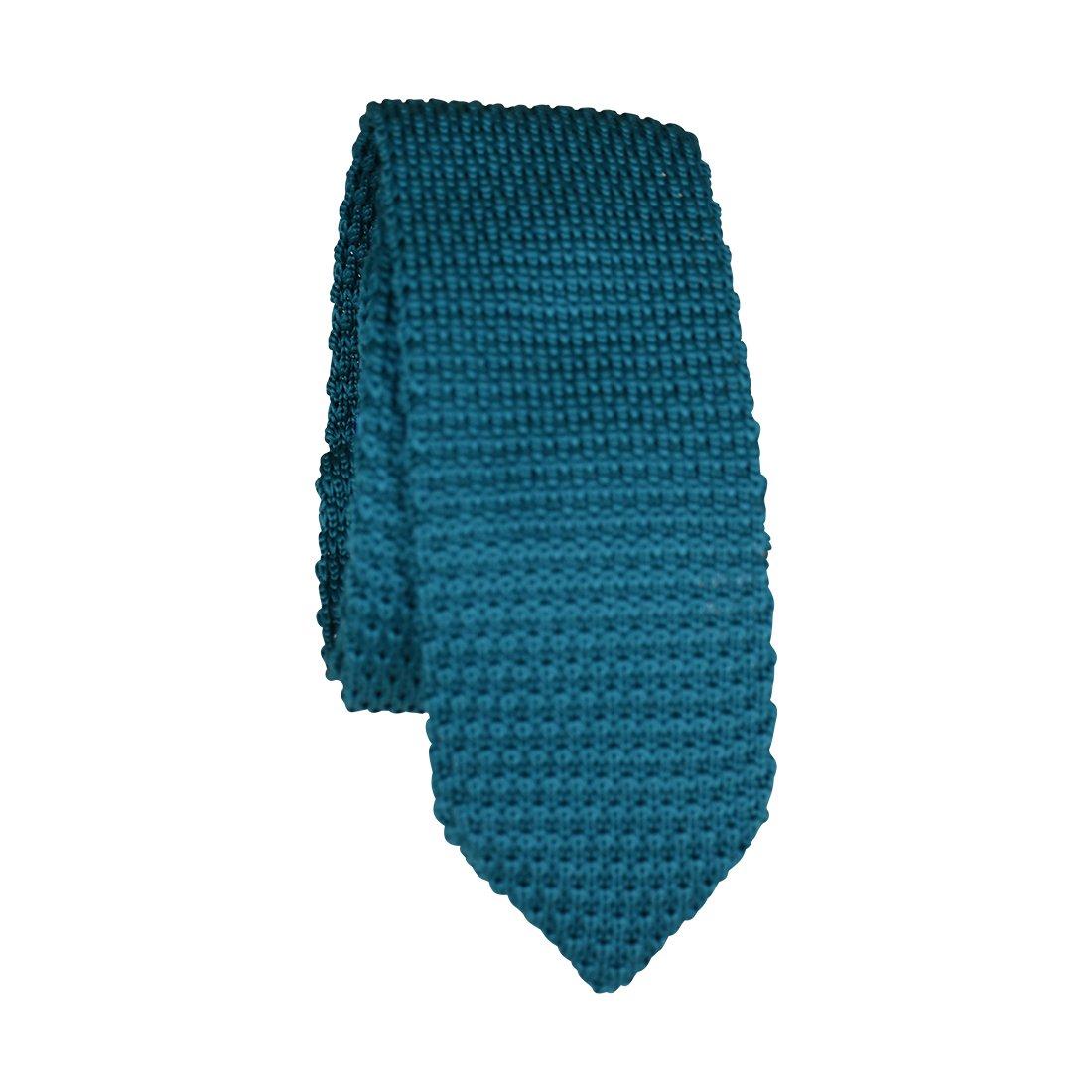 Teal Textured Knit Junior Necktie Formal Boys Tie 60''