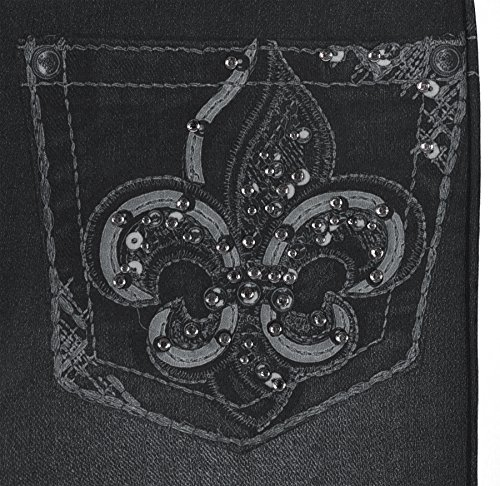Crush Toddler Girls Blue Jean Print Leggings in 7 Fun Styles in Sizes 2T-4T (2T-4T, 22492 Black) by Crush (Image #3)