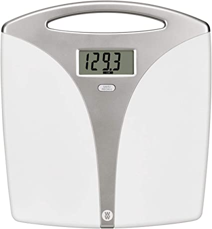 Amazon Com Ww Scales By Conair Portable Precision Plastic Electronic 5 Weight Tracker Bathroom Scale With Carry Handle 400 Lbs Capacity Beauty