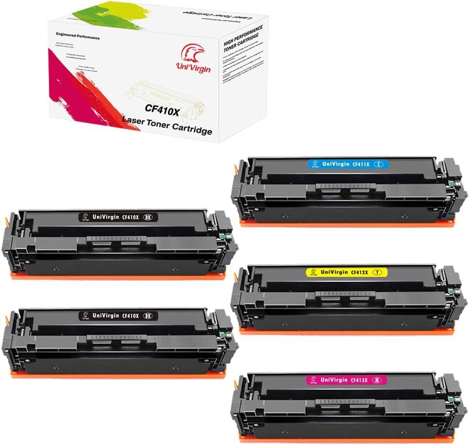 1 Combo 5PK-Set of Compatible 410X CF410X CF411X CF412X CF413X Toner Cartridge for HP Color Laserjet Pro MFP M477fdw M477fnw M477fdn, M452dw M452nw M452dn M377dw by UniVirgin –2BK+1C+1M+1Y 61soLzplRfLSL1000_