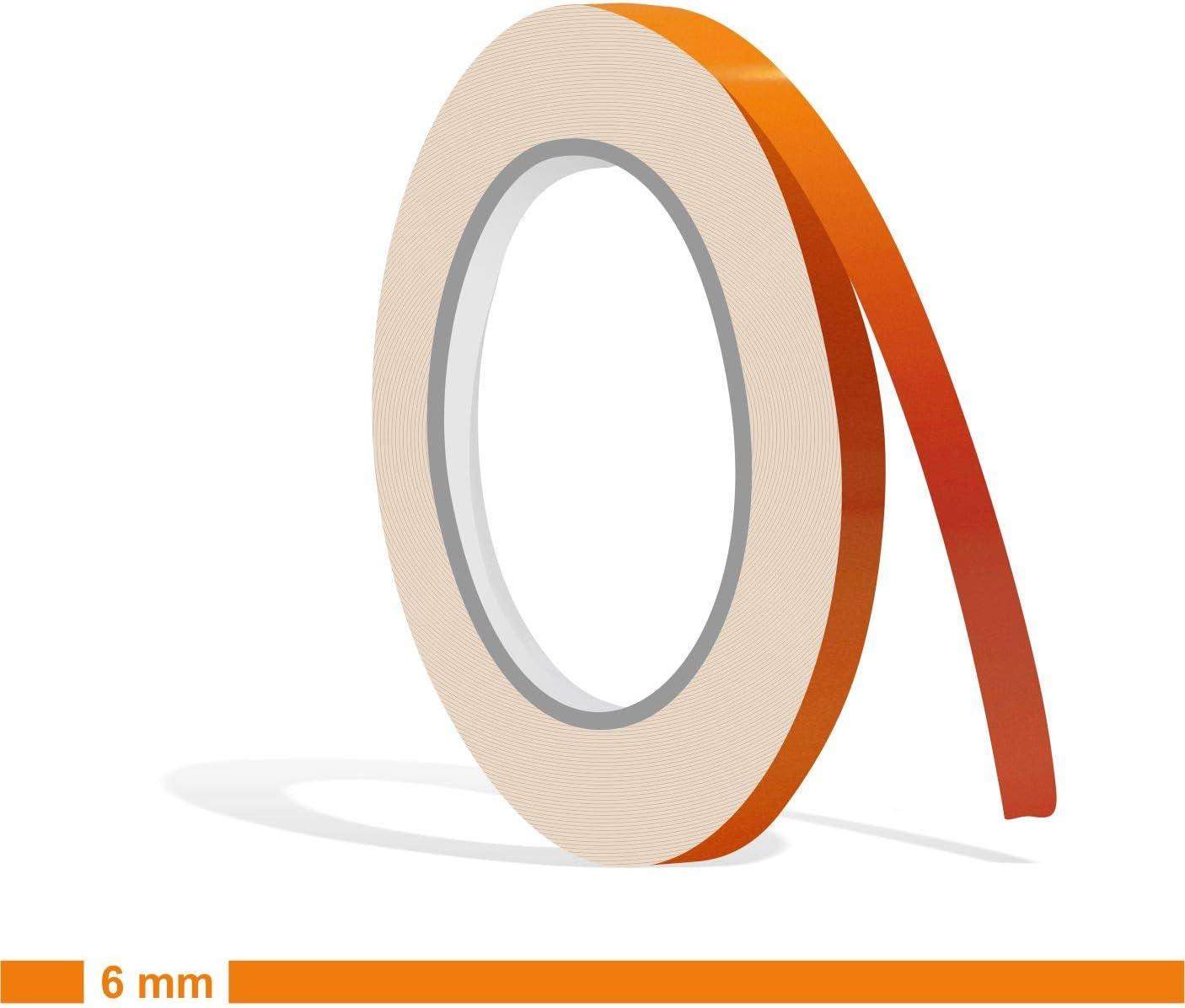 Siviwonder Zierstreifen Orange Glanz In 6 Mm Breite Und 10 M Länge Für Auto Boot Jetski Modellbau Klebeband Dekorstreifen Auto