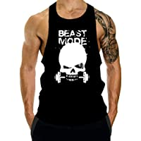 GZXISI Men's Gym Bodybuilding Stringer Tank Top Workout Muscle Cut Shirt Fitness Sleeveless Vest