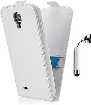 Galaxy S4 Mini Funda Carcasa Funda magnética para Samsung Galaxy S4 Mini Blanco (GT-i9190, Duos GT-I9192 & GT-I9195 + Black Edition): Amazon.es: Electrónica