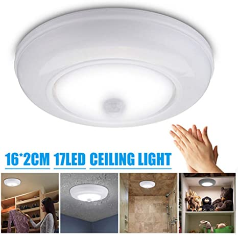 Battery-Operated Cordless Wireless Ceiling//Wall//Closet//Hall Light+Remote Control