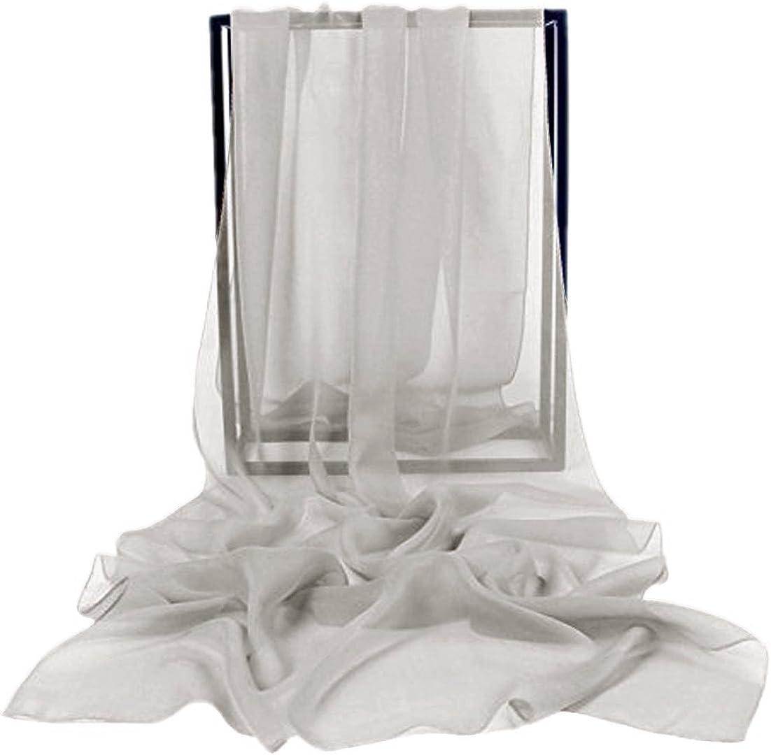 bridesmay Chiffon Stola Schal Scarves f/ür Kleider in Verschiedenen Farben Silver Grey S