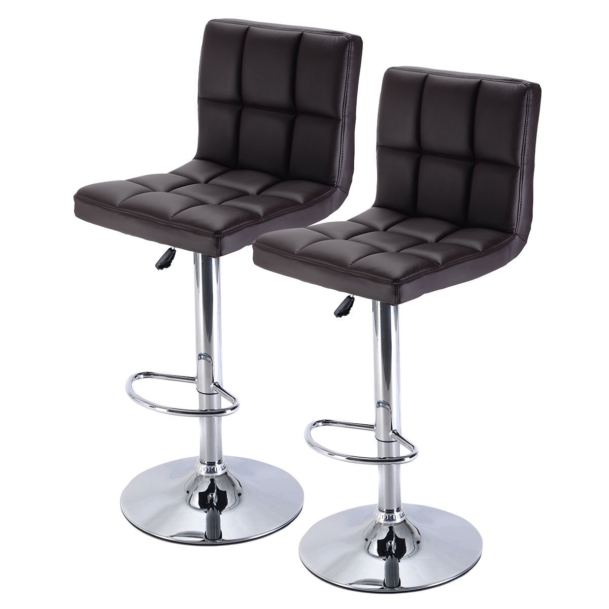 Amazon.com Costway Furniture Swivel PU Leather Barstools Chair Adjustable Hydraulic Counter Bar Stool Set of 2 (Brown) Kitchen u0026 Dining  sc 1 st  Amazon.com & Amazon.com: Costway Furniture Swivel PU Leather Barstools Chair ... islam-shia.org