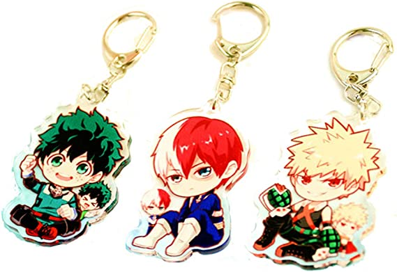 My Hero Academia Heart Keychain Bakugou Katsuki