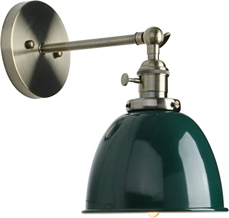 Permo 6 3 Inch Metal Dome Shade Industrial Wall Sconce Lighting Fixture Green Amazon Com