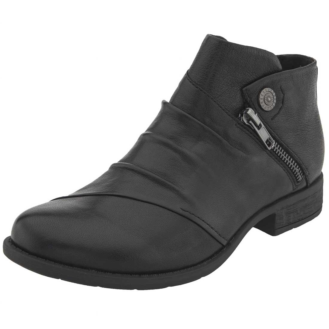 Earth Womens Ronan Closed Toe Ankle Fashion Boots B005BFPE0A 7 B(M) US|Black Brush-off Leather