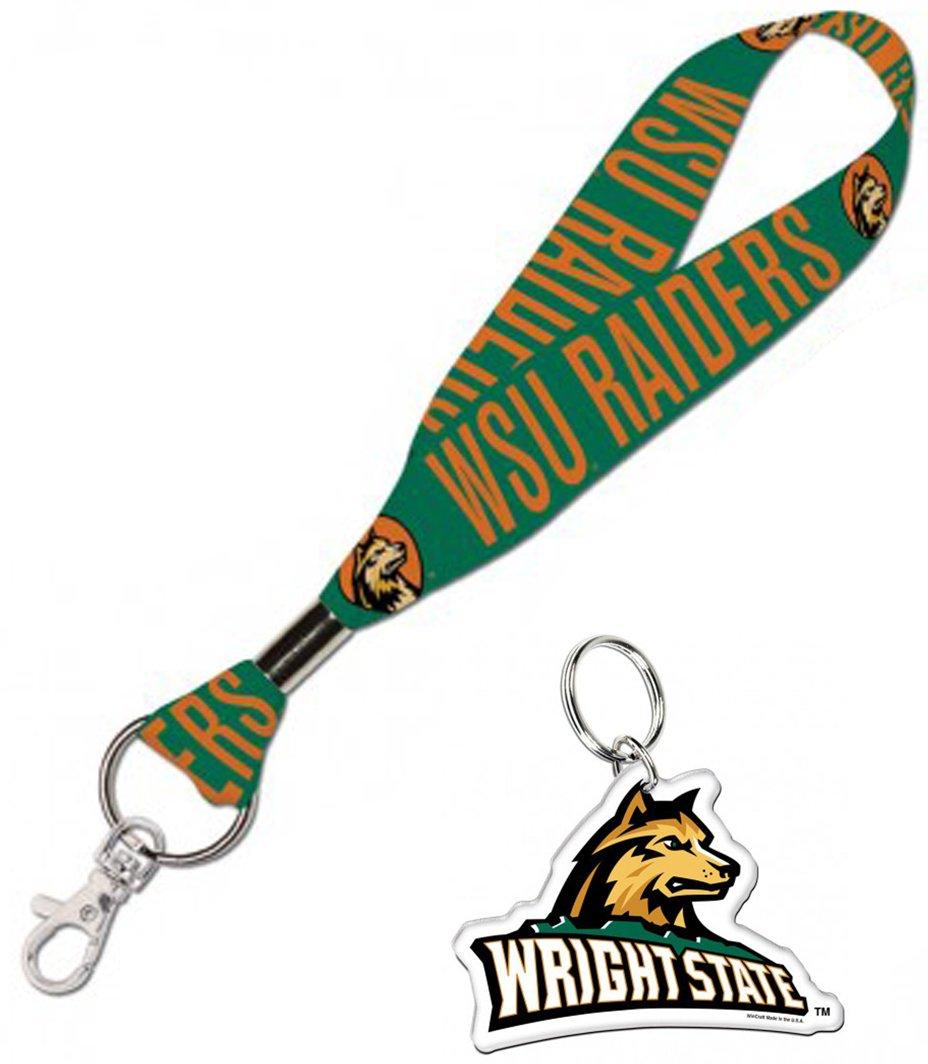 Wincraft Wright State University Raiders Gift Set 1 Premium Key Strap and 1 Key Ring