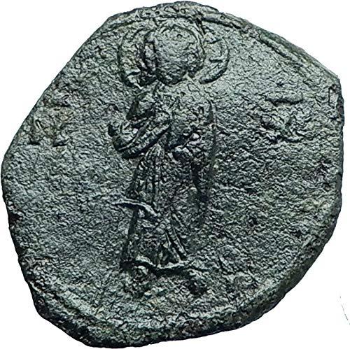 1118 TR JOHN II Comnenus Ancient 1118AD Tetarteron JESUS coin Good