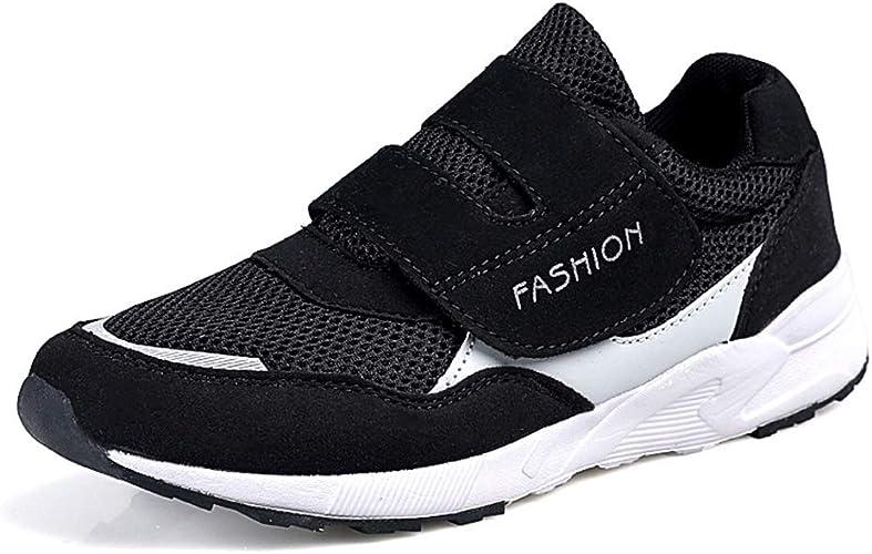 Leader Show Women's Elderly Casual Comfort Walking Shoe Safety Flats Non Slip Hook & Loop Sneakers