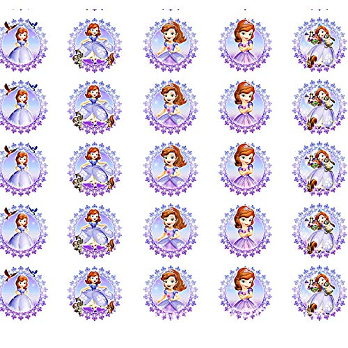 Sofia Frist Princess Sugar Stamp Sheets for Decorated Meringues Kisses,Chocolate Transfer Sheet -