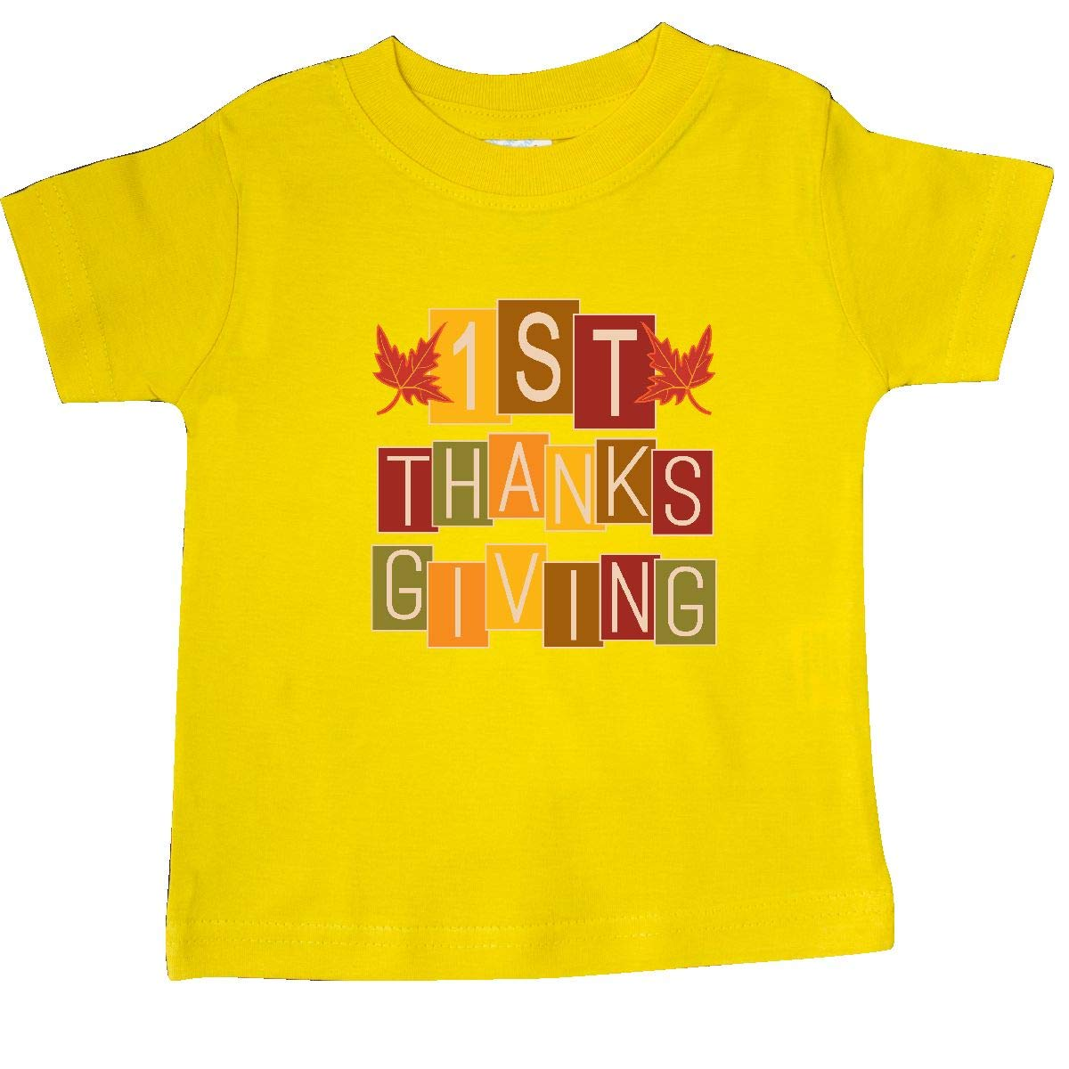 inktastic 1st Thanksgiving Fall Holiday Baby T-Shirt