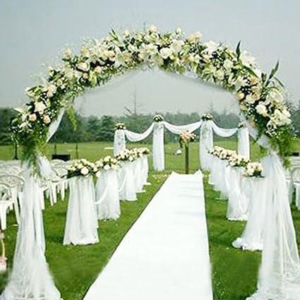Perno de tul de tela, gasa sólida para la decoración de la boda Decoración para el hogar Sala de banquetes Sheer Organza Fabric Bolt (Blanco): Amazon.es: Hogar