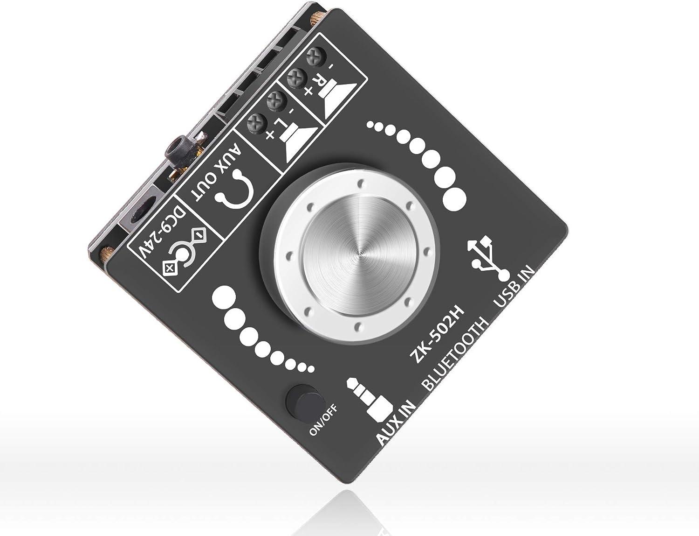 OWAYKEY Mini amplificador Bluetooth 50W+50W salida de alimentación de doble canal, entrada Bluetooth+ AUX+ USB