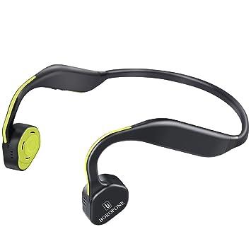 Conducción ósea Auriculares, Borofone titanio abiertos inalámbricos Auriculares Bluetooth auriculares deportivos, color gris: Amazon.es: Electrónica