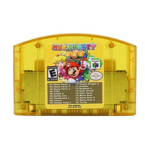 Tarjeta de Juego 18 en 1 para Nintend N64 Mario Party 1 2 3 ...