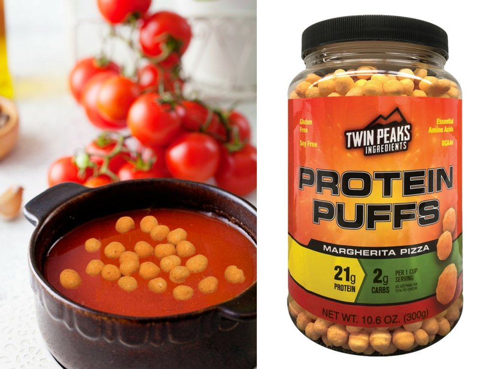 Twin Peaks Ingredients Protein Puffs - Margherita Pizza 300g (10 Servings), 21g Protein, 2g Carbs, 120 Cals, High Protein, Low Carb, Soy Free, Gluten Free, Potato Free - Best Protein Snack by Twin Peaks Ingredients (TPI) (Image #4)