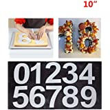 Large Number Cake Mold 0-9 Numbers Cake Moulds For Fillings Layered Cake Wedding Birthday (24cm)