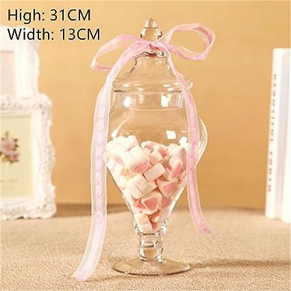 Dulces de Navidad de tarro de vidrio claro decorativos Apothecary Jars Boda / centro / Dulces
