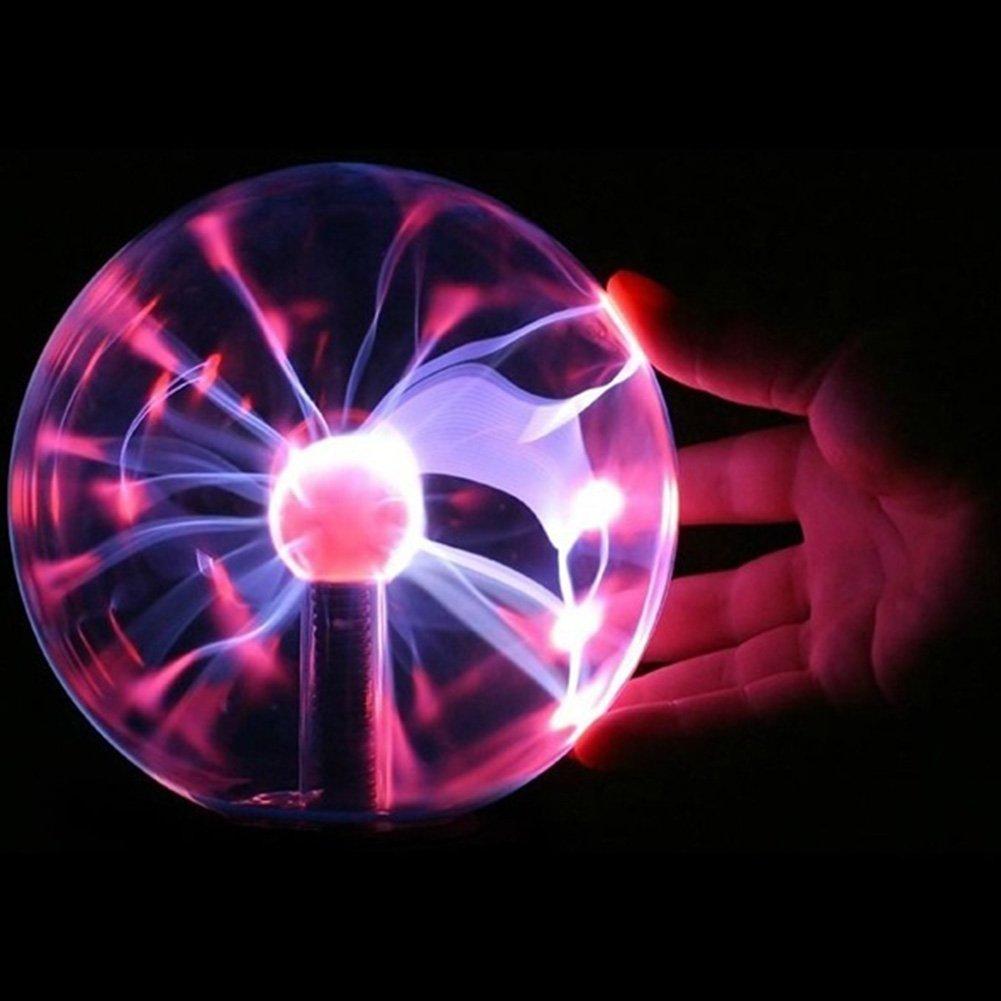 5-inch Unique Plasma Glass Ball Magic Ball, USB Electrostatic Ball Lamp Sphere, Delicate Household Office Desktop Decorations UxradG
