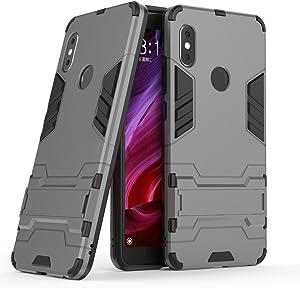 Xiaomi Redmi Note 5 Pro Case, FoneExpert Shockproof Rugged Impact Armor Slim Hybrid Kickstand Protective Cover Case for Xiaomi Redmi Note 5 Pro