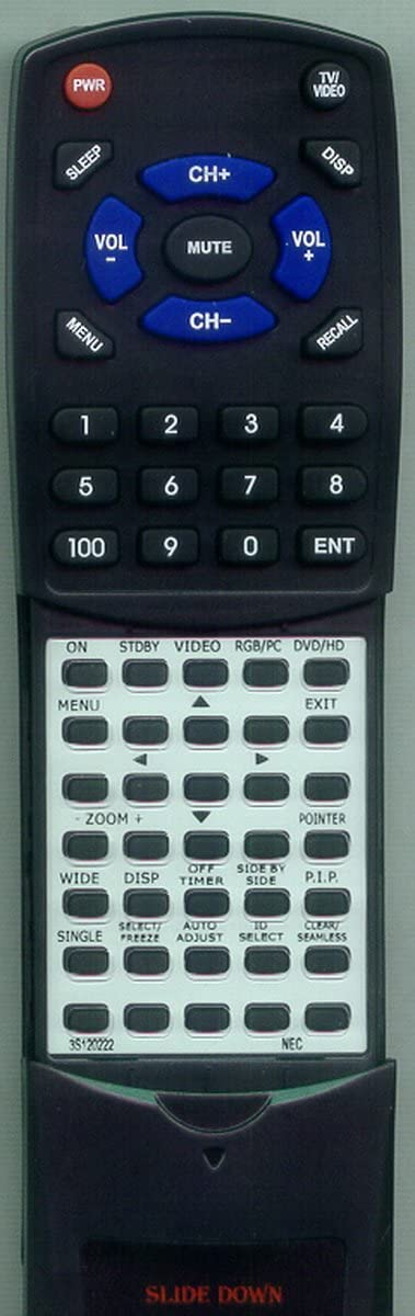 61XM3 Replacement Remote Control for NEC PX61XR3A 3S120222 PX61XM3A PX50XM4A