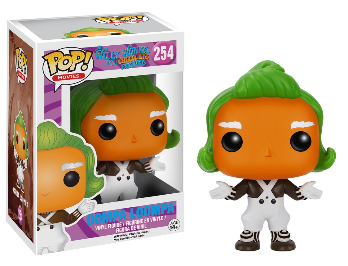 Amazon.com: Funko Pop Movies: Willy Wonka-Oompa Loompa Action Figure ...