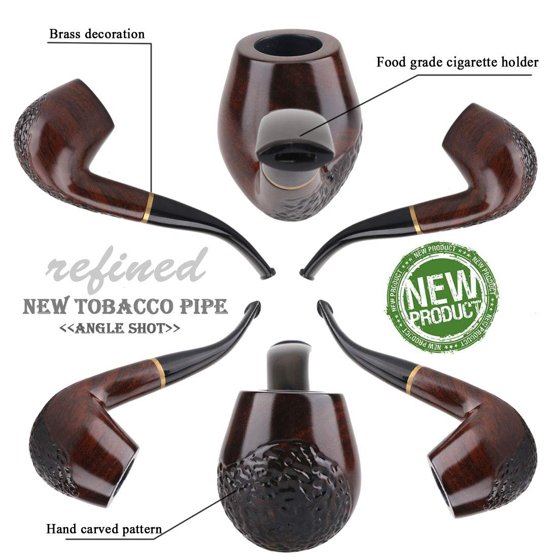 Amazon.com: Ylyycc solid wood tobaco pipe with several accessories tobacco pipe: Garden & Outdoor