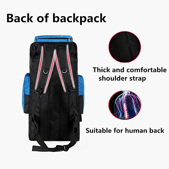 huangyung 75 Liter Hiking Internal Frame Backpack with Rain Cover Suitable for Hiking Traveling and Camping; Not Your Basic Backpack
