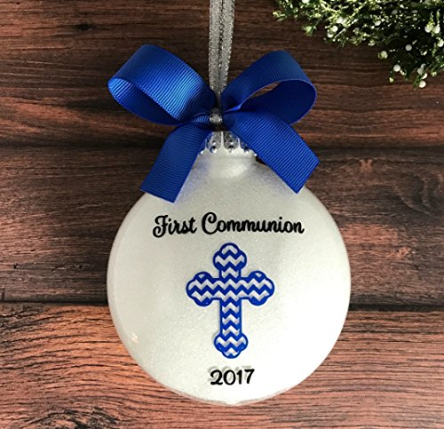 First Communion Ornament, Personalized First Communion Gifts for Boys, First Holy Communion Gifts - Handmade Personalized Ornaments