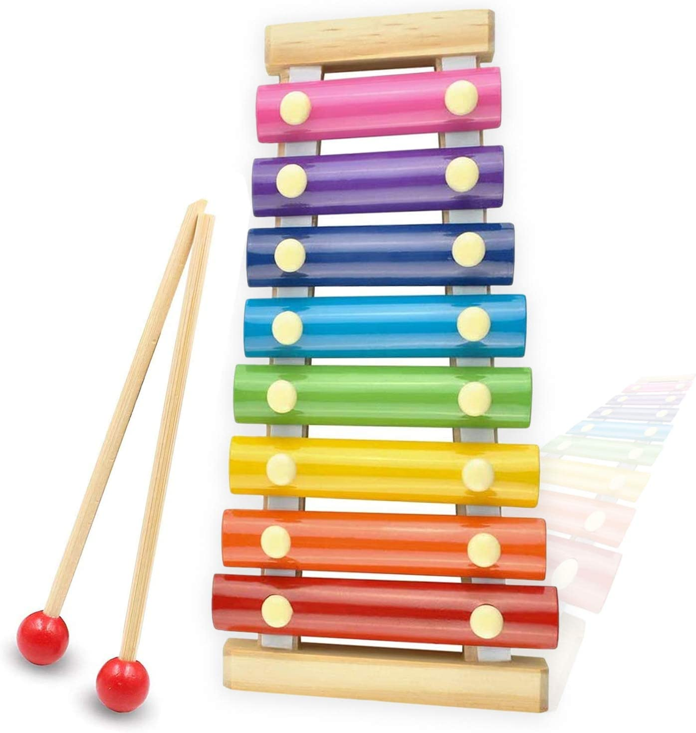 GLOCKENSPIEL /& BEATERS MUSIC CHILDS CHILDREN PERCUSSION KIDS TOY XYLOPHONE