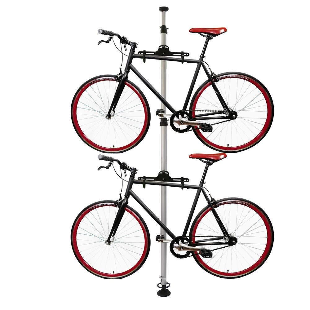 Cablematic - Caballete para aparcar dos bicicletas colgadas con sistema de presión a techo Cablematic.com PN25101510580127511